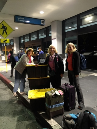 All packed and ready to go! (L to R:  Lori Larson, Debbie Wyne, Teri Flynn)