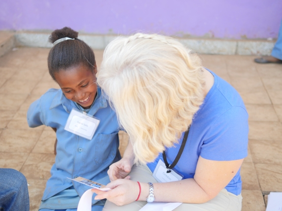 Reading sponsor letters to the children--a privilege and joy!