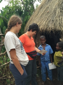 Brenda and Rachel visit their sponsored child